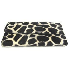 Faux Fur Giraffe Ladies Wallet Checkbook